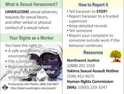 sexual harassment prevention - wallet cards