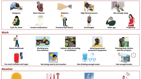 Risk Factors for Heat Illness Poster