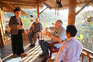 Jim traveling in Ban-Ha, Vietnam