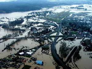 Chehalis flooding on I5; wsdot flickr
