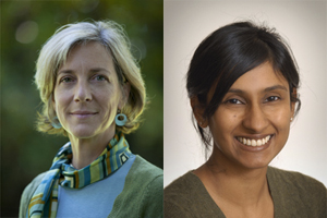 Photo of Catherine Karr and Sheela Sathanarayana