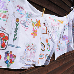 Stacey Holland - Agricultural Safety and Health - Hand drawn napkins from survivors of sexual assault and harassment