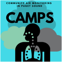Logo for community air monitoring in Puget Sound study