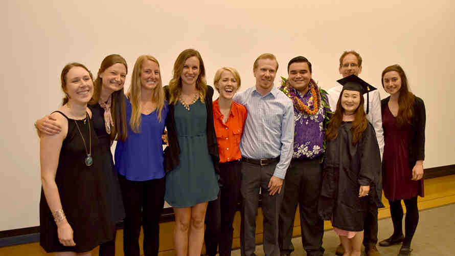 Group of DEOHS students after graduating in the DEOHS ceremony.
