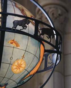 Jon Sharpe - Higher Education - Globe in Suzzallo Library