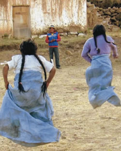 Carley Truyens - Global Health - Girls in a sack race