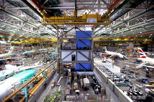 inside Everett Boeing factory