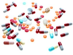 Various kinds of medication pills