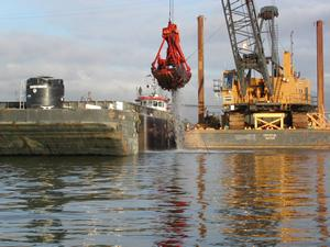 Dredging the Duwamish River