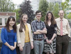 Master's degree students who presented their research in May