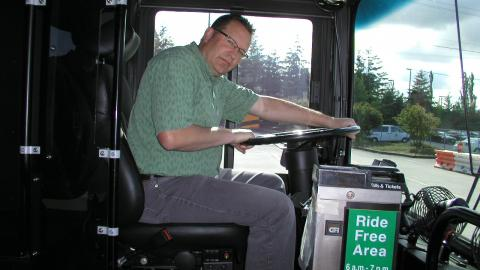 Peter Johnson in a King County Bus