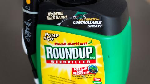 Photo of Roundup herbicide product. Photo via Alamy.
