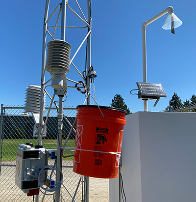 Various pieces of air monitoring equipment